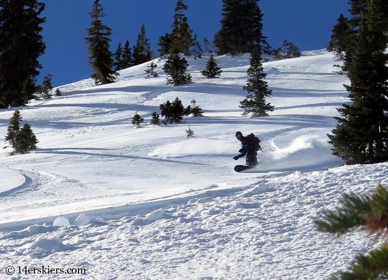 Scott Yoast backcountry snowboarding in Crested Butte