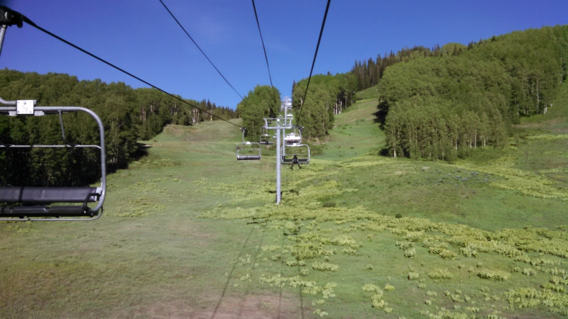 The Red Lady Chairlift in summer at Crested Butte Mountian Resort