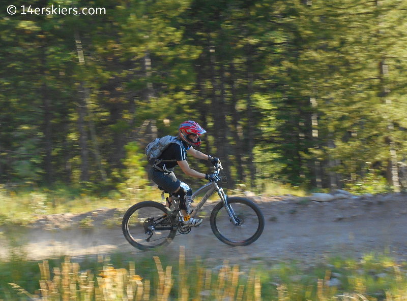 Frequency downhill mountain bike trail at Crested Butte Mountain Resort