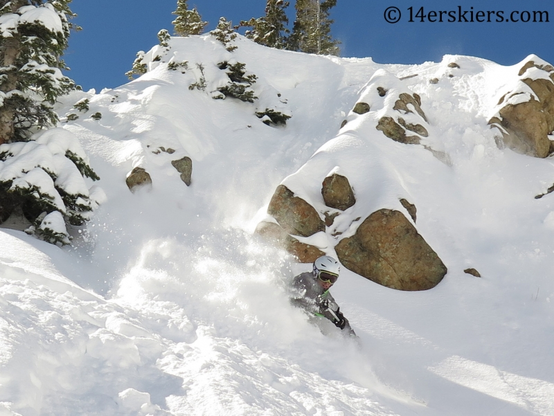 Frank Konsella enjoying some powdery steeps at Crested Butte Mountain Resort February, 2014.