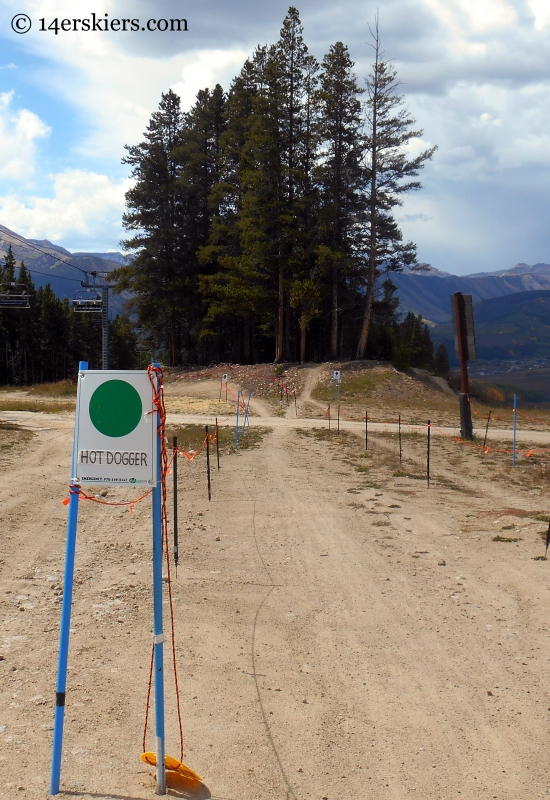 trail sign for Hot Dogger at Crested Butte Mountain Resort