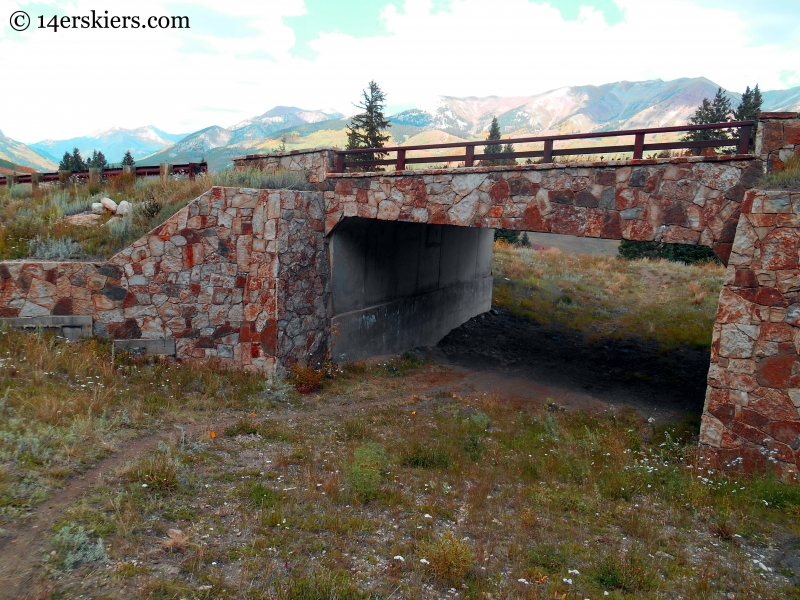 road crossing at Crested Butte Mountain Resort