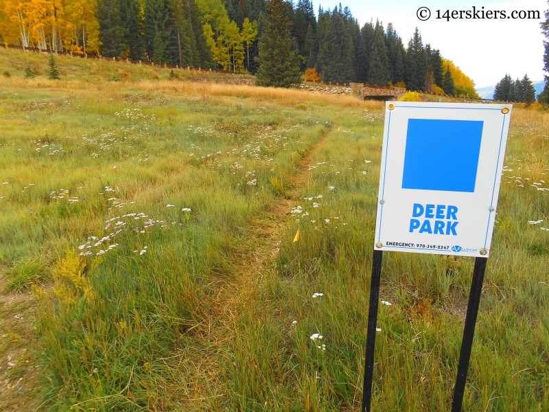 Deer Park Trail at Crested Butte Mountain Resort