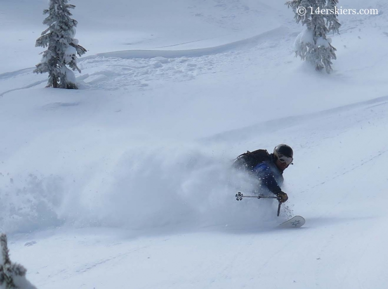 Mike backcountry skiing in Crested Butte.