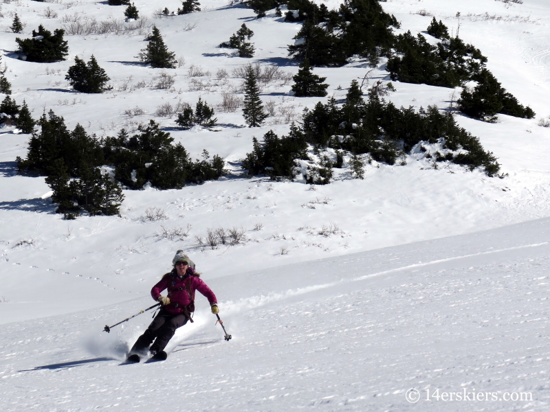 Jenny Veilleux backcountry skiing in Crested Butte