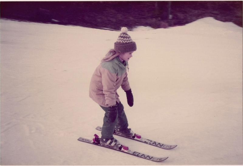 Brittany Walker Konsella skiing at age 6