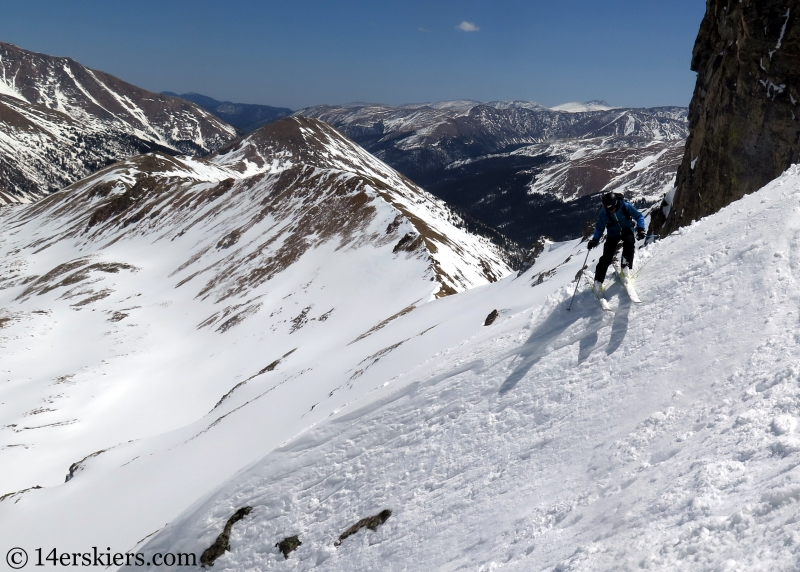 Backcountry skiing Citadel, Colorado.