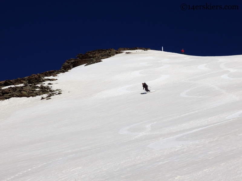 Josh Macak skiing South Lookout