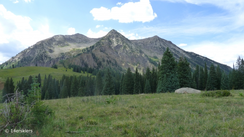 Hiking Cliff Creek trail to Beckwith Pass near Crested Butte, CO.