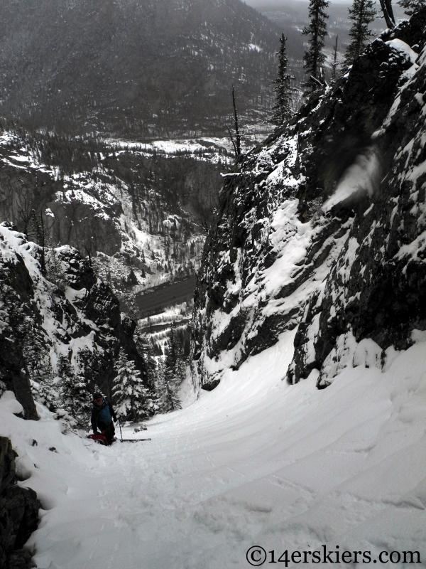 coin slot couloir ski