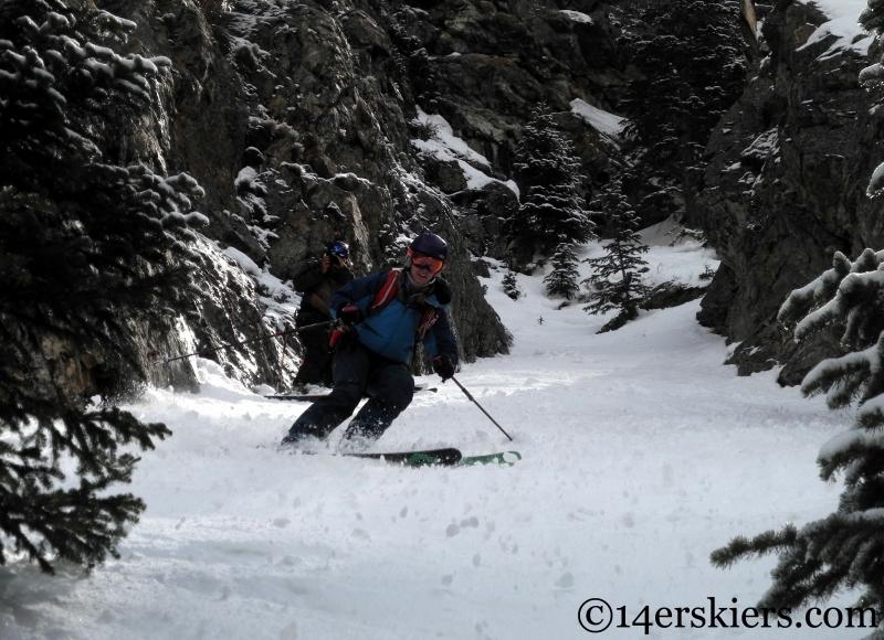 Brittany Konsella skiing the Coin Slot