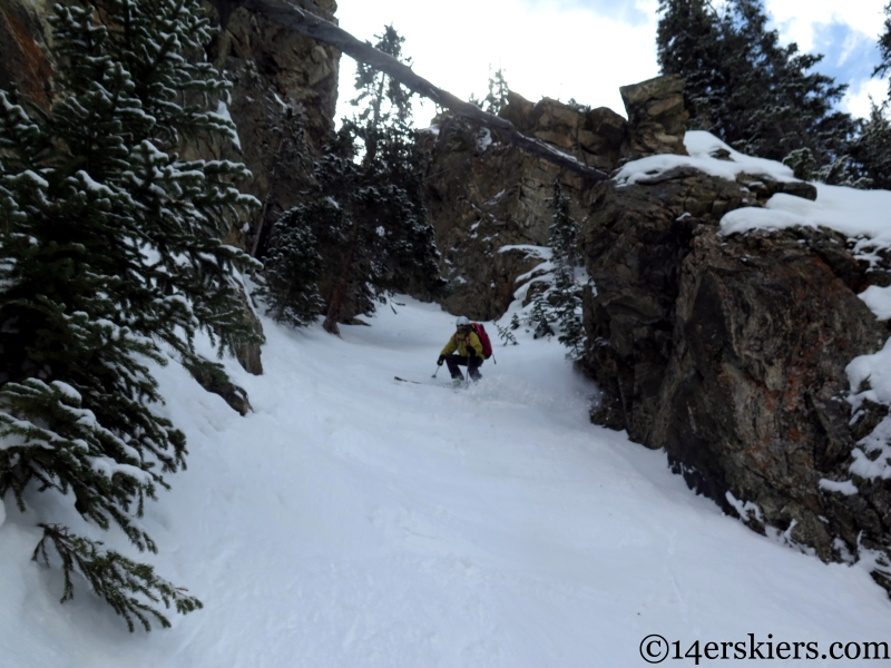 Frank Konsella skiing the Coin Slot