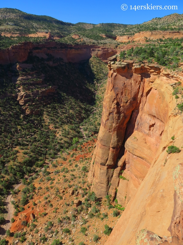 canyon near visitors center in the Colorado National Monument.