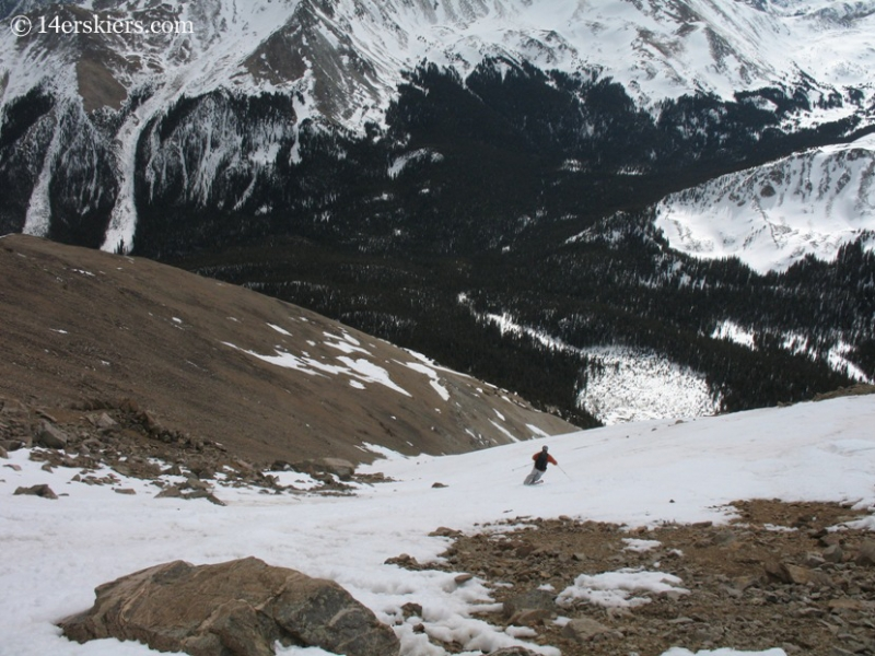 Fritz Sperry backcountry skiing on Mount Columbia.