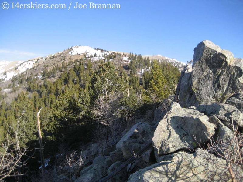 Ridge to climb Columbia.