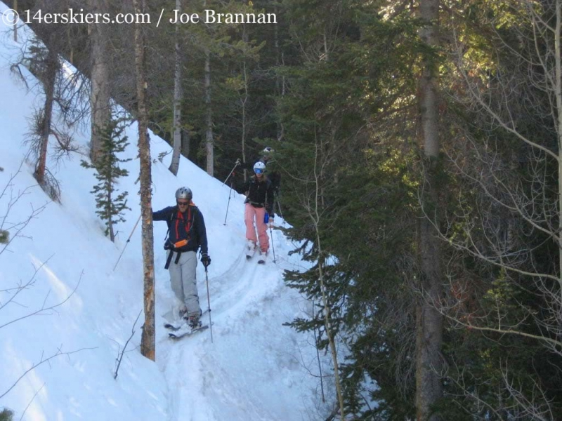 skiing out of Mount Columbia.