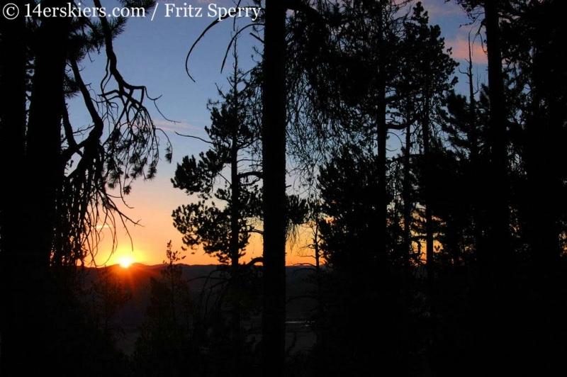 Sunrise while climbing Mount Columbia.