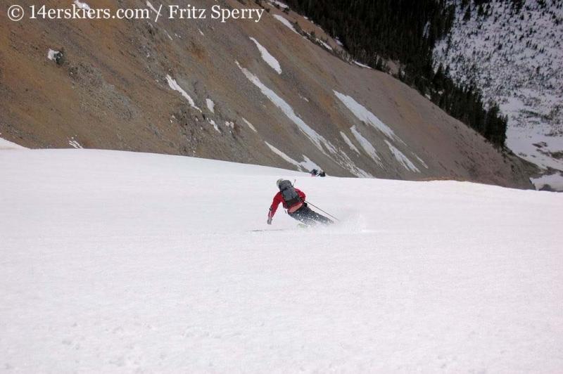 Joe Brannan backcountry skiing on Mount Columbia.