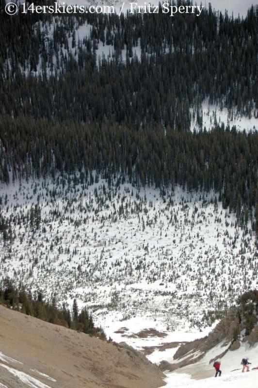 South Ramp on Mount Columbia.