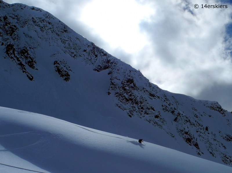 Backcountry skiing near Cooke City