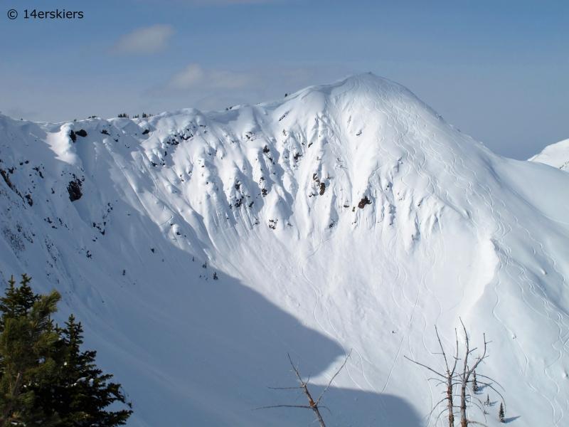 Backcountry skiing near Cooke City, Montana