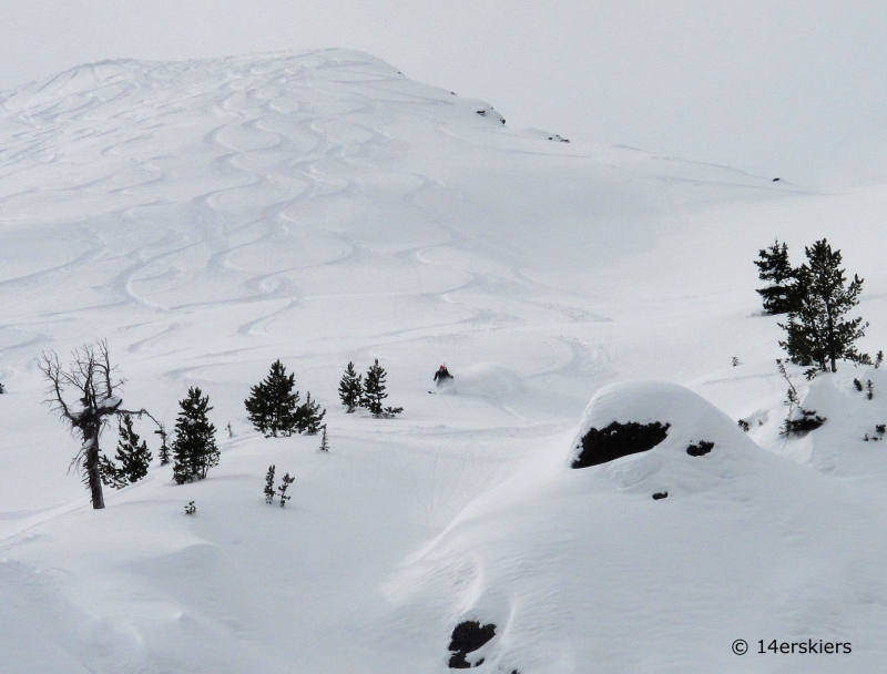 Backcountry skiing near Cooke City, Montana