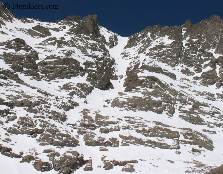 South couloir of Crestone Peak