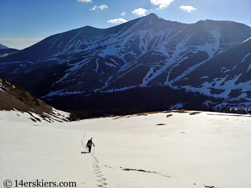 Backcountry skiing Cronin Peak