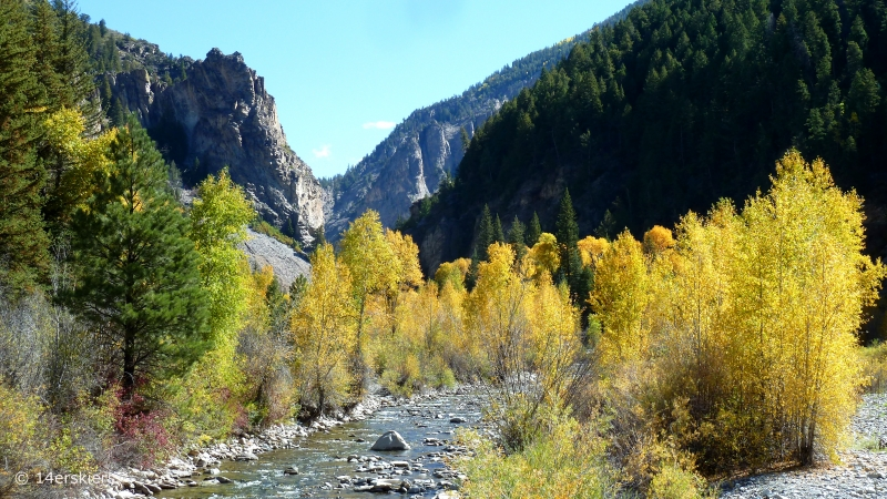 Dark Canyon hike in fall near Crested Butte, CO