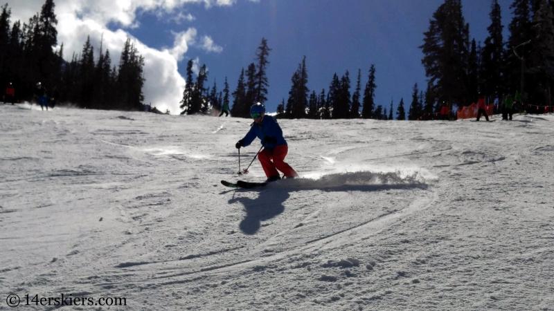 Skiing at Arapahoe Basin.