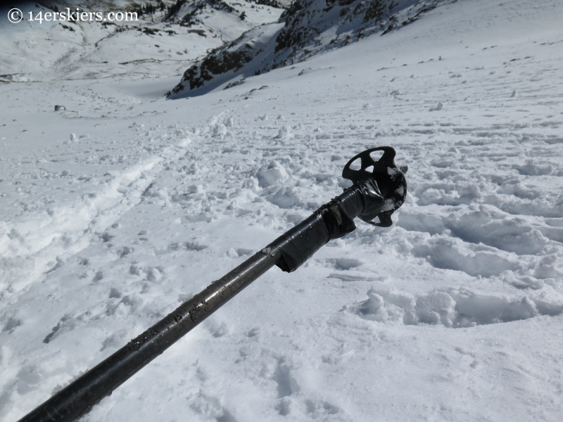 broken backcountry ski pole