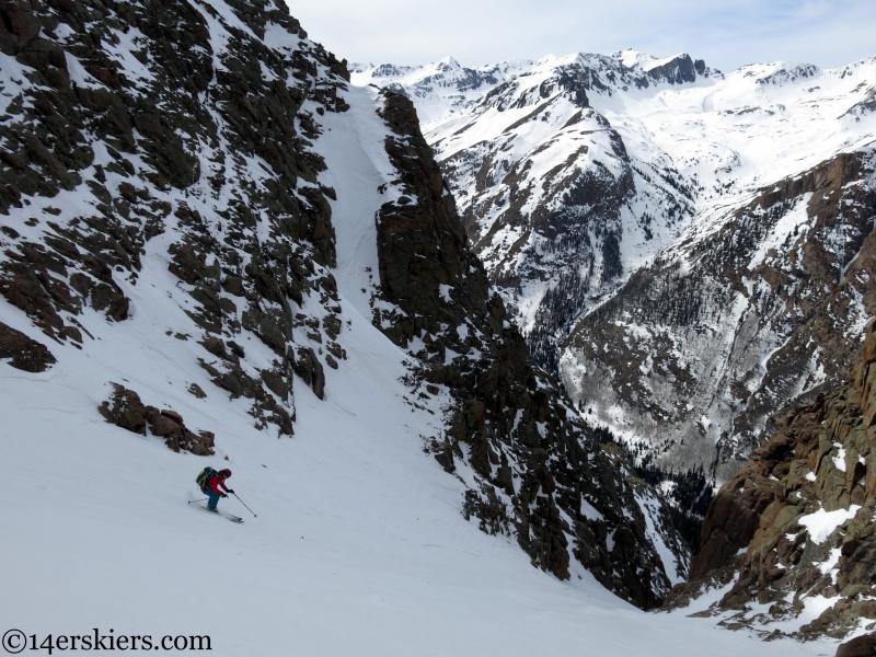san juan couloir skiing