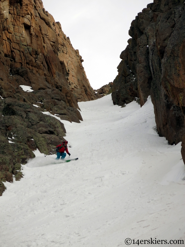 Best couloir in the San Juans