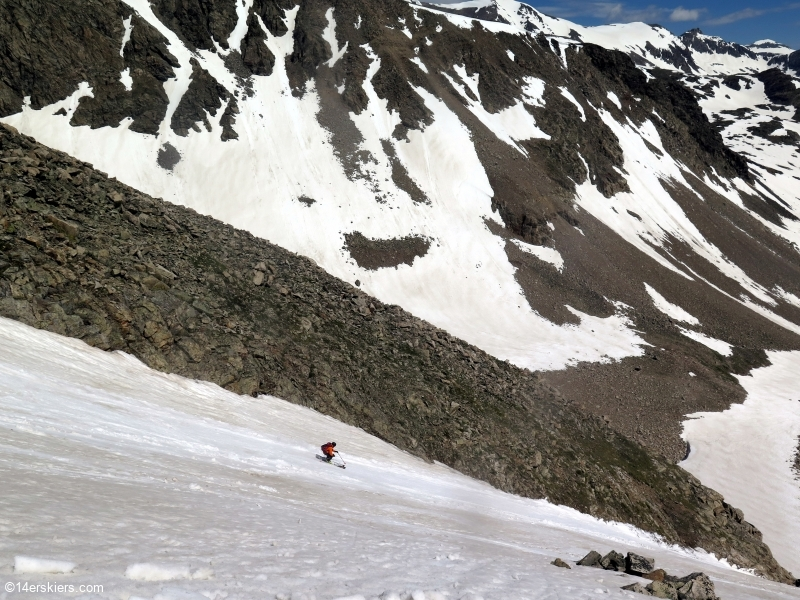 north face democrat skiing july