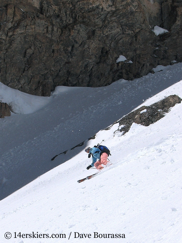 Brittany Walker Konsella backcountry skiing Dragons Tail Couloir
