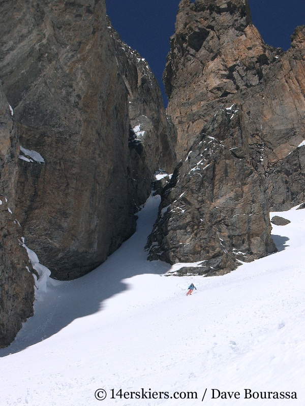 Brittany Walker Konsella backcountry skiing Dragons Tail Couloir