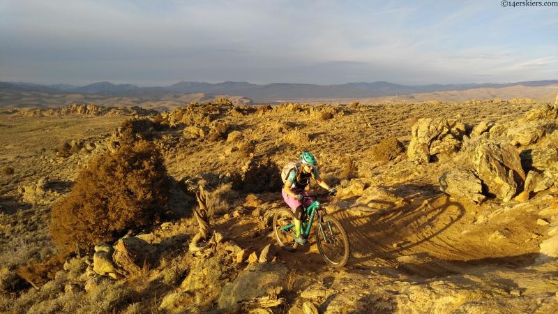 Mountain biking at Hartman Rocks in late fall