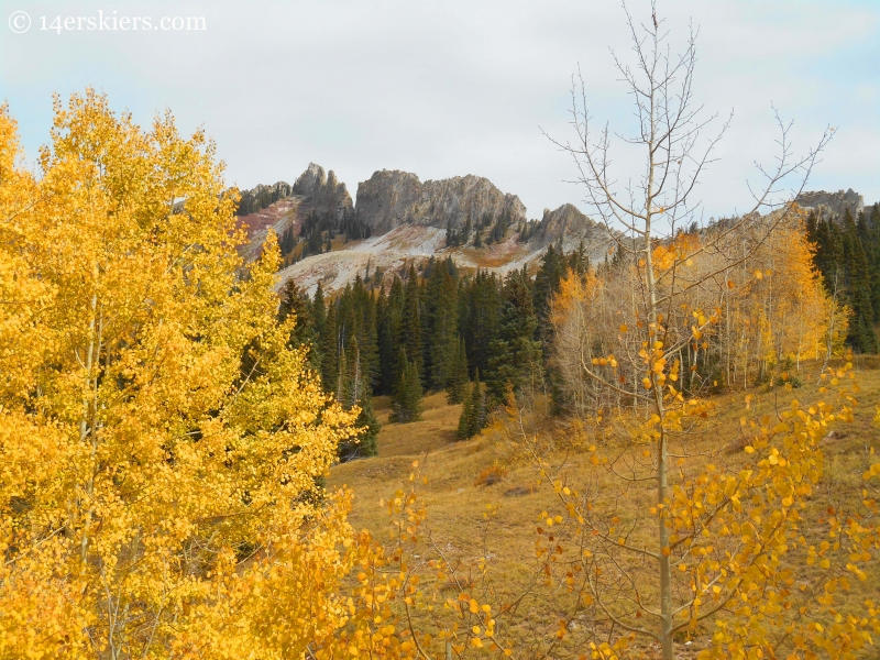 The geologic dyke on the Dyke Trail near Crested Butte
