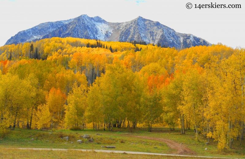 Beckwith seen during the fall from Horse Ranch near Crested Butte