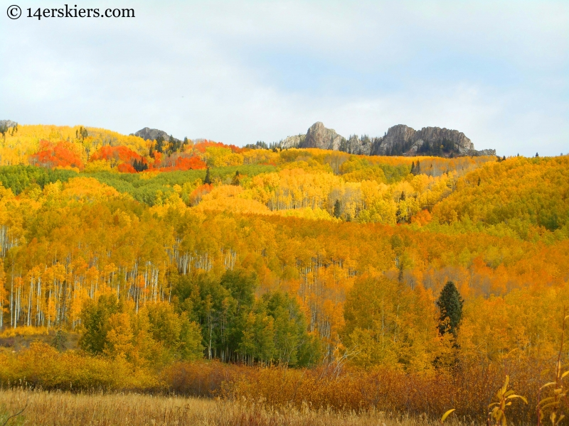 The Dyke seen from Horse Ranch Park near Crested Butte