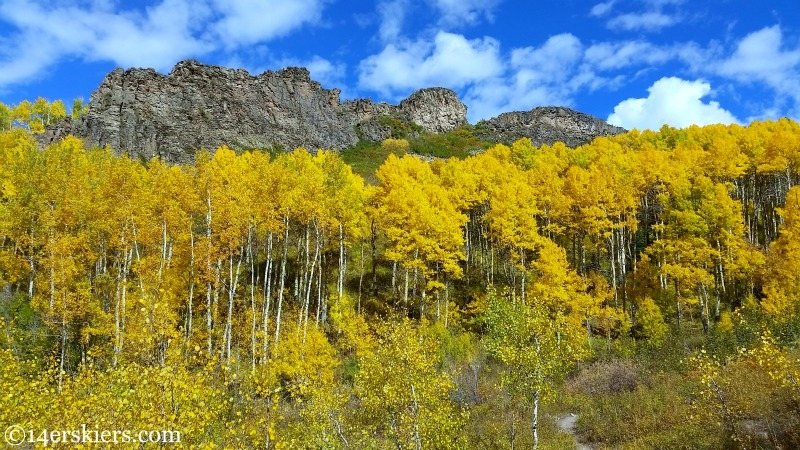 The geologic dyke near Crested Butte in the fall