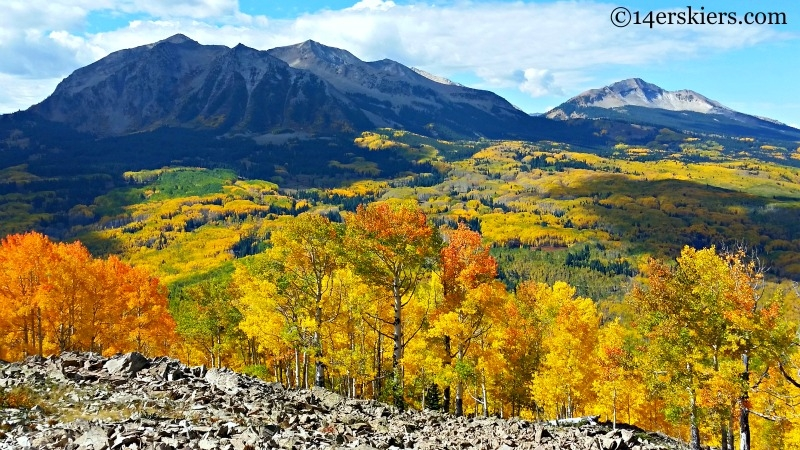 East an West Beckwith in the fall near Crested Butte.