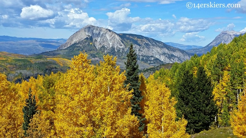 Marcellina in the fall, near Crested Butte.