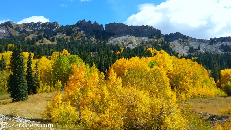 Dyke near Crested Butte in the fall.