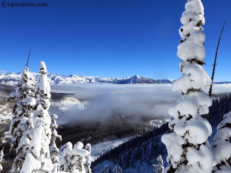 Crested Butte with clouds