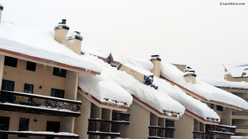 chimney collapse due to snow