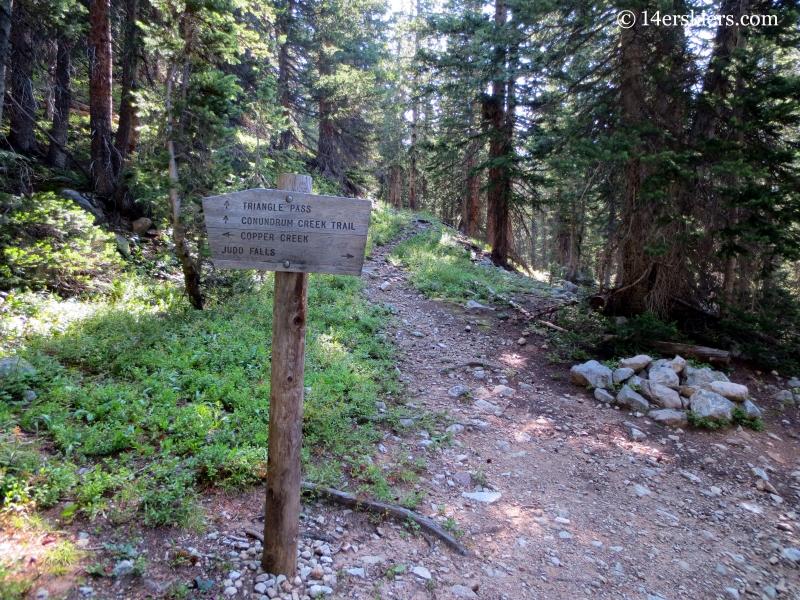 Copper Lake Trail Sign