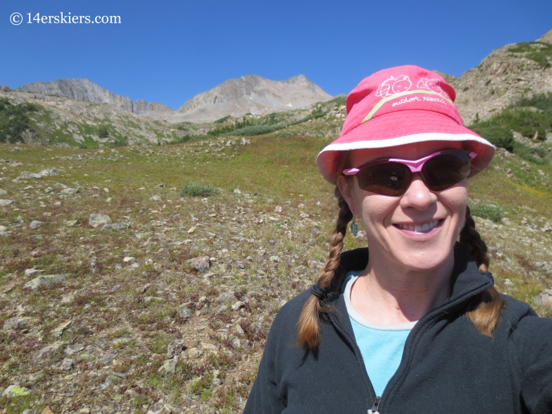 Brittany Konsella at top of East Maroon Pass.