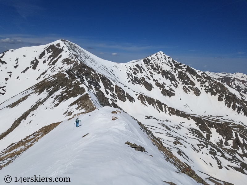 Backcountry skiing Mount Edwards