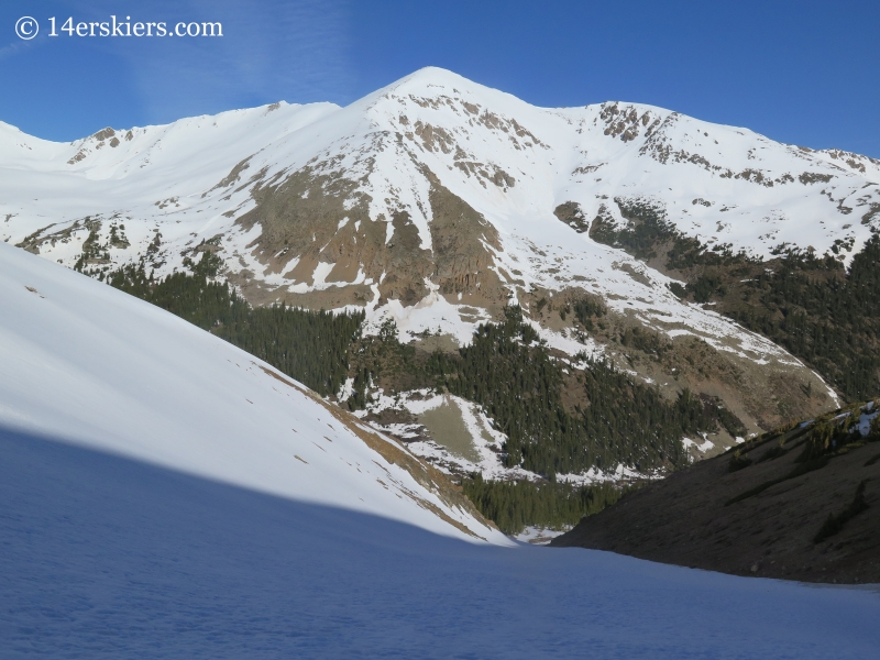 French seen from Nortwest Gullies on Mount Elbert.
